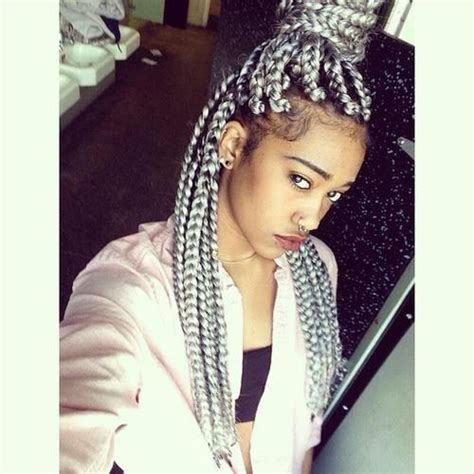 black to grey ombre box braids hairstyles 17 best images about box braids on pinterest big box