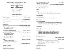 church wedding program templates free best photos of church wedding program templates free