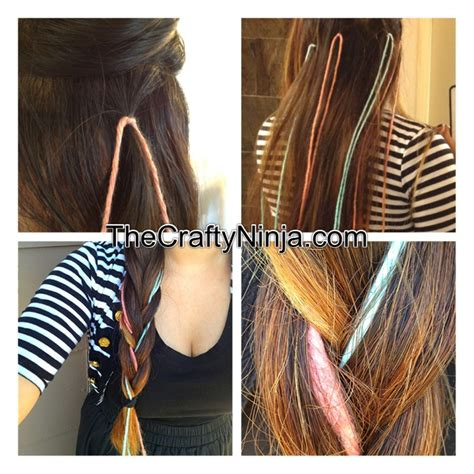 how to tie yarn into hair kool aid yarn dye hair braid the crafty ninja