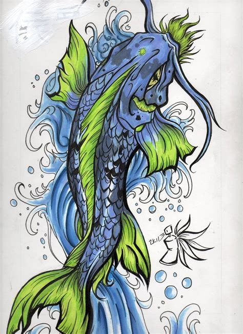 colorful koi fish tattoo designs 1 1