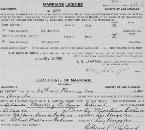 Divorce Records La County La County Marriage And Divorce Records