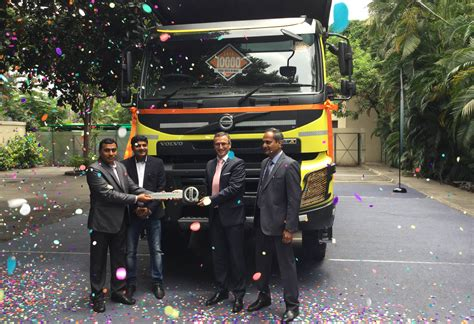 who makes volvo trucks volvo makes its 10 000th truck delivery in india