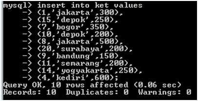 1 syntax syntax dibawah ini adalahuntuk membuat database 8 syntax dibawah ini adalah untukmenilkan keseluruhan