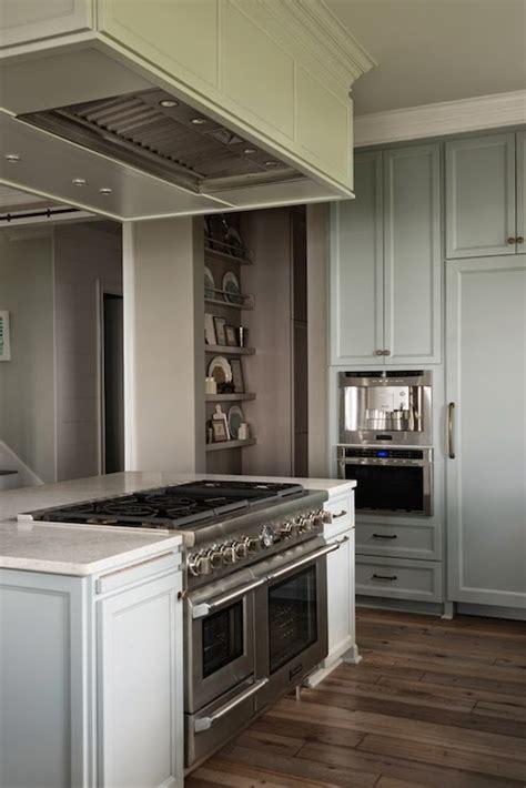 Hood Over Kitchen Island   Transitional   kitchen