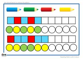pattern activities early years repeating pattern sequences by tesearlyyears teaching