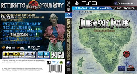 download jurassic park the game ps3 jurassic park operation genesis ps3 case v3 by kingza123