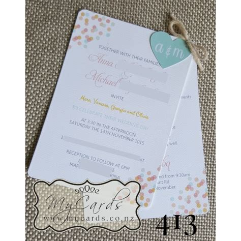 wedding invitations auckland pastel scatter wedding invitations auckland