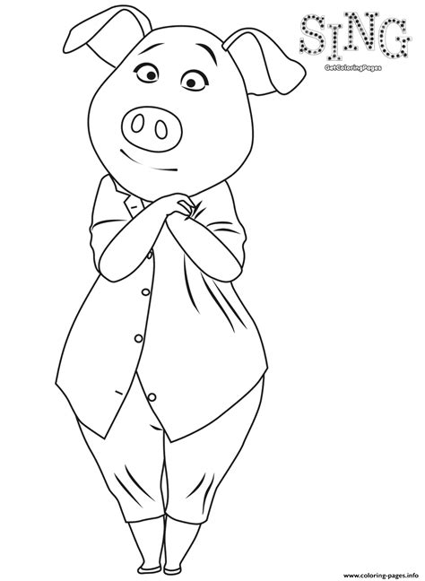 printable coloring pages cing sing colouring page pig rosita coloring pages printable
