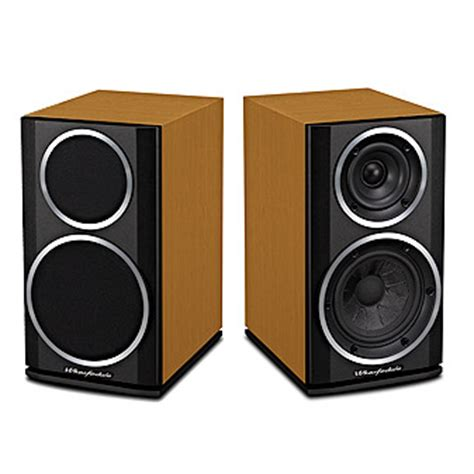 wharfedale 121 cinnamon cherry bookshelf speaker