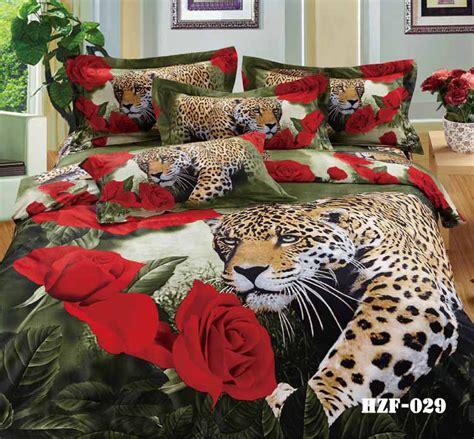 leopard print comforter queen size 3d leopard animal print rose bedding sets king queen size