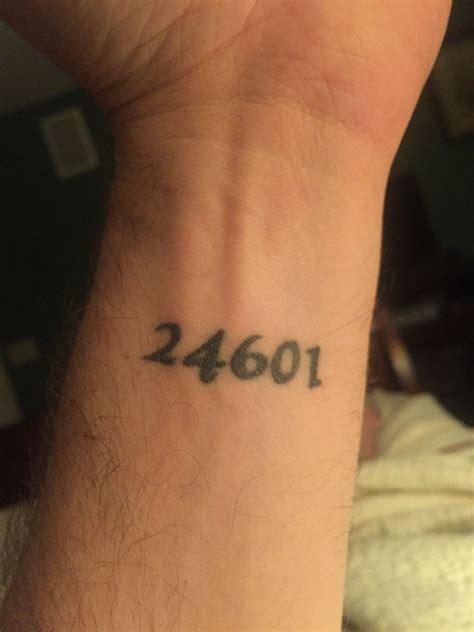 number 3 tattoo jean valjean prison number tattoos tattoos