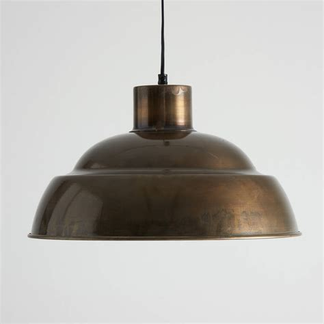 Brass Pendant Light Antique Brass Pendant Lights By Horsfall Wright Notonthehighstreet