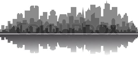 New Construction Home Plans modern city silhouette stock vector colourbox