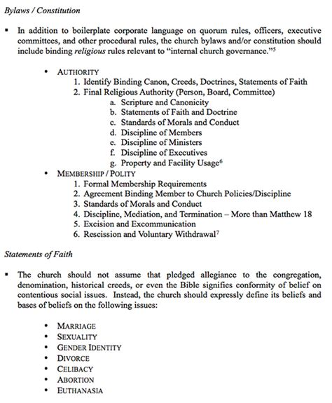 church bylaws template religious liberty audits churches liberty institute