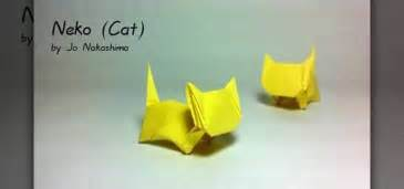 how to make a folded paper cat with origami 171 origami