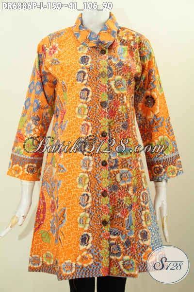 Baju Wanita Dress Panjang Bagus dress batik kwalitas bagus busana batik atasan untuk