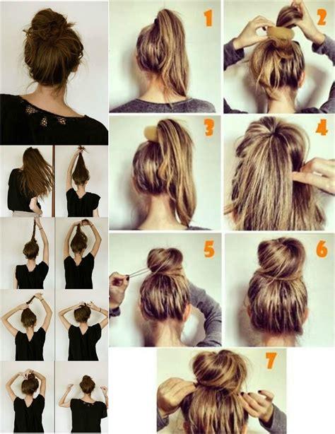 how to make a high bun with a bang messy hair buns top knot tutorial messy bun pinterest
