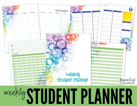 free printable student planner high school middle and high school planner printables for homeschool