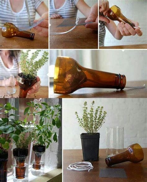 diy plant watering bottle wonderful diy cutting glass bottles for self watering planter