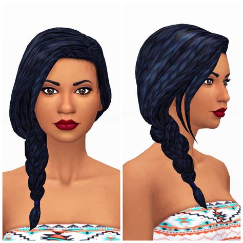 sims 4 female braids my sims 4 blog get together side braid retexture by