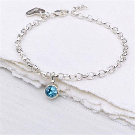 blue topaz bracelet december birthstone by lilia nash