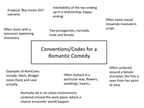 Film Comedy Conventions | conventions and codes for a romantic comedy