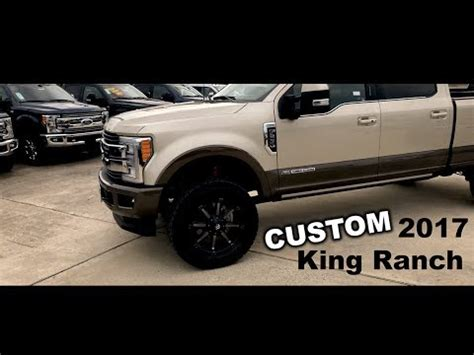 lifted ford   king ranch custom wheels  tires