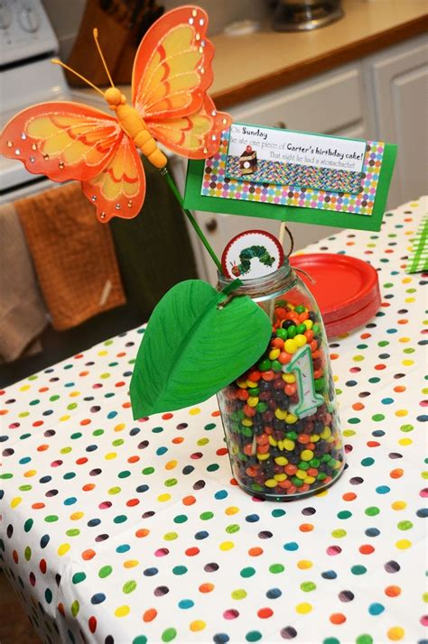 very hungry caterpillar 1st birthday centerpieces for
