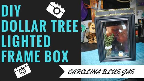 diy lighted picture frame diy 9 dollar tree lighted frame box