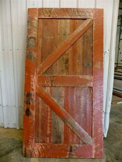 sliding barn door reclaimed wood classicrustic red