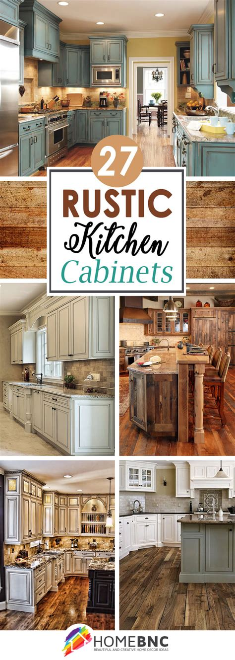 rustic kitchen cabinet ideas 27 best rustic kitchen cabinet ideas and designs for 2018