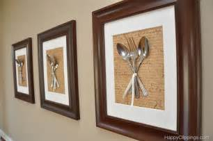 kitchen artwork ideas diy silverware wall