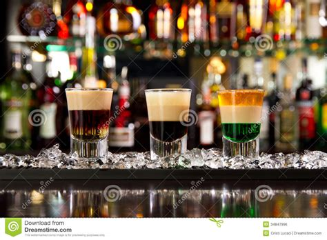top shots bar shots royalty free stock image image 34847996