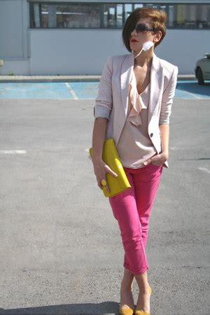New Arrival Zara Bag 2055 Pink yellow clutch h m bags pink zara light pink
