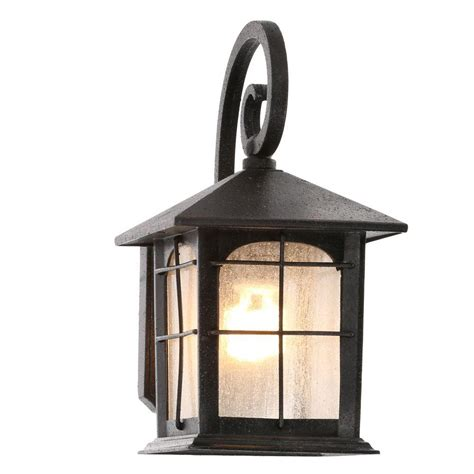 wall lantern outdoor lighting home decorators collection brimfield 1 light aged iron