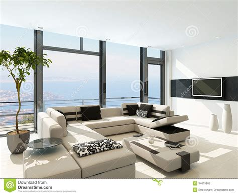 modern living room images d modern white living room interior with splendid seascape