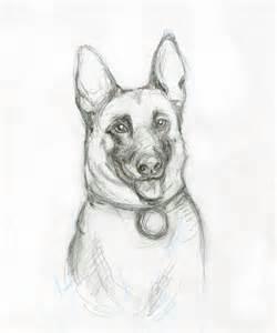 Police K 9 German Shepherd Coloring Pages Sketch Page sketch template