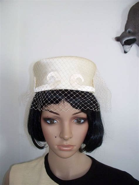 vintage womens satin dress hat union made