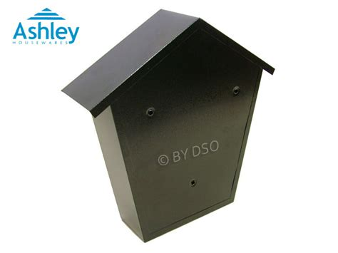 Proof Letter Boxes Black Letter Post Mail Box Postbox Lockable Outside Letterbox 2 With Fixing Ebay