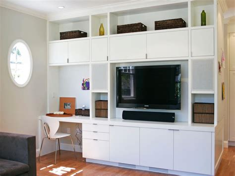 built in wall unit with desk and tv photos hgtv