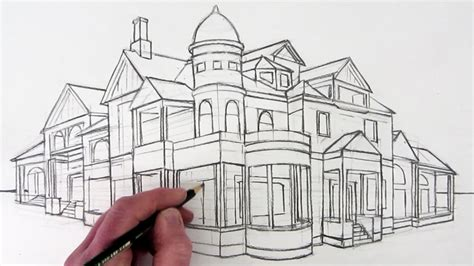 2 Point Perspective House Drawing Lesson by Drawing 2 Point Perspective Drawing Ideas