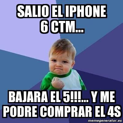 Iphone 4s Meme - meme bebe exitoso salio el iphone 6 ctm bajara el 5