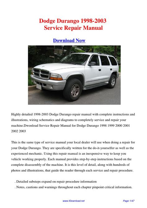 dodge durango repair manual 1998 2011 service manual ac repair manual 1998 dodge durango 28 2003 dodge durango owners pdf manual