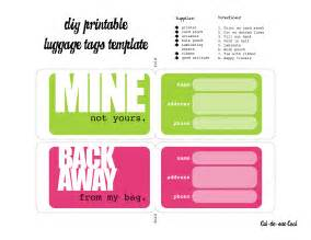 word luggage tag template diy printable luggage tags