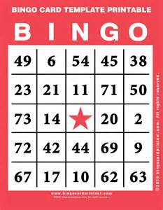 Blank Bingo Template Pdf by Blank Bingo Card Template Cards Templates Blank Bingo