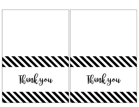 card templates free black and white printable thank you cards black and white journalingsage