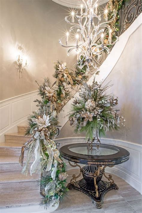 staircase decor 19 stunning christmas staircase decorations