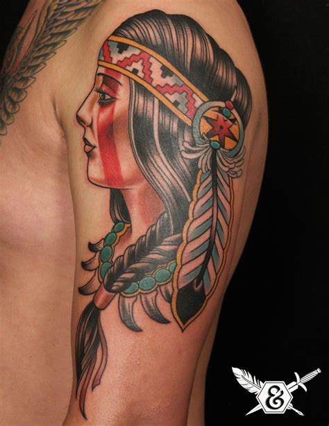 tattoo girl traditional american traditional russ abbott ink and dagger tattoo