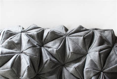 Origami In Bloom - a wool blanket inspired by origami modern home design