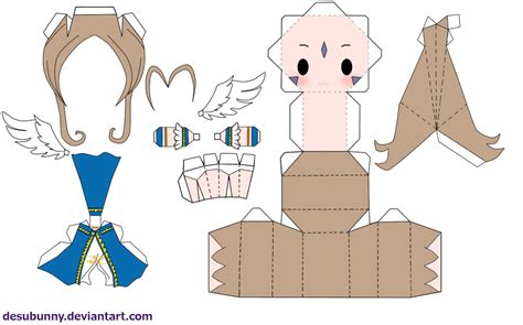 Papercraft Anime Templates - belldandy papercraft by tsunyandere on deviantart